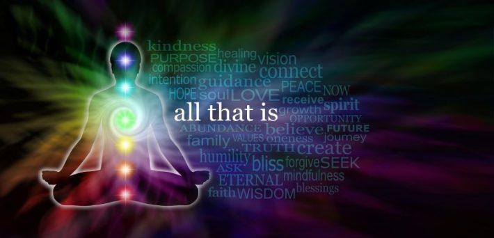Chakra Meditation Word Cloud Website Banner